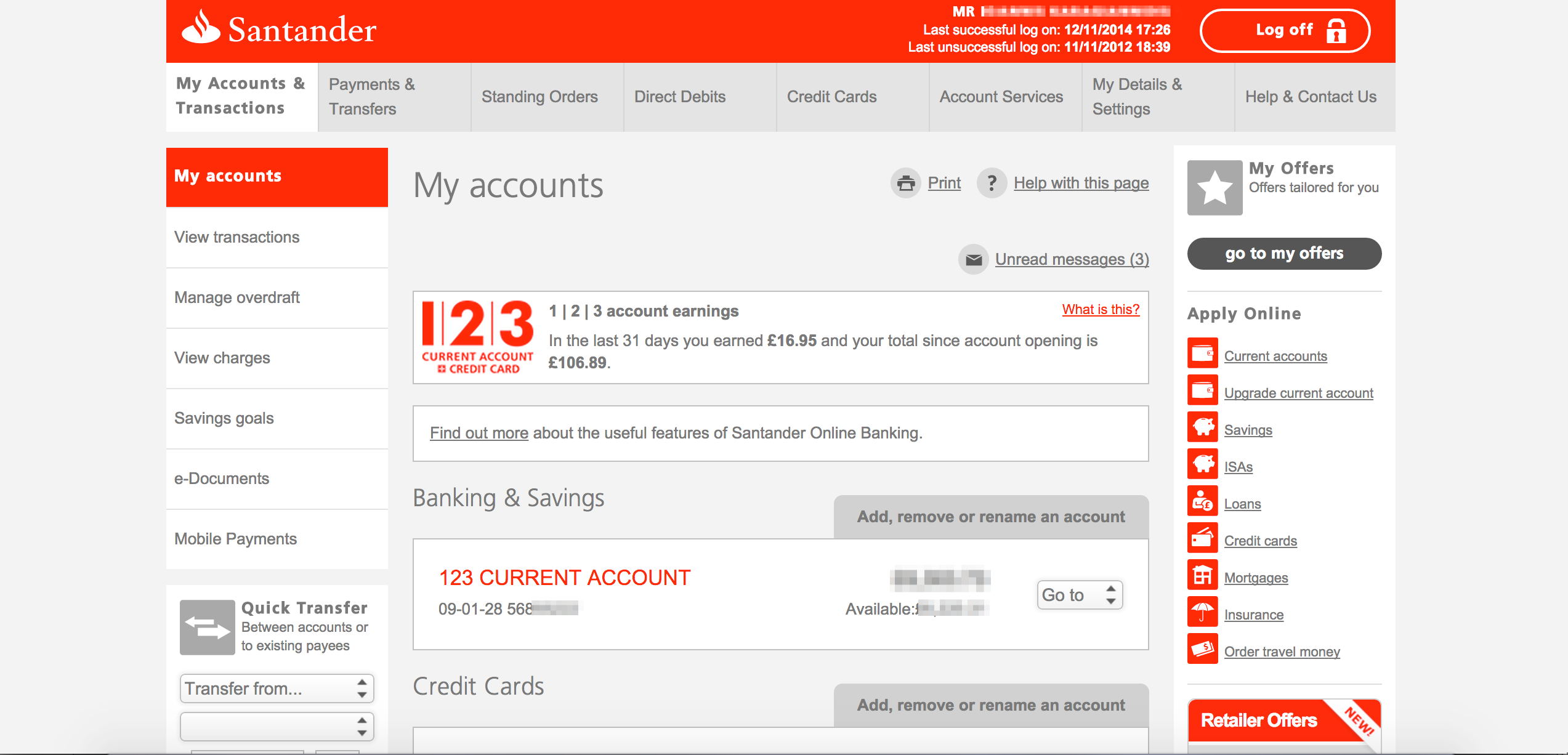Local Transfer Guide Using Santander Online Bank