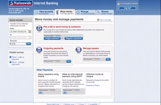 How To Make A Local Money Transfer Using Nationwide Online Banking