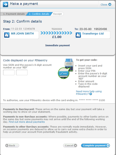 barclays online banking will writing service